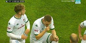 Samsunspor - Bursaspor Karşılaşmasında da Oyun Durarak Oyuncular İftar Yaptı