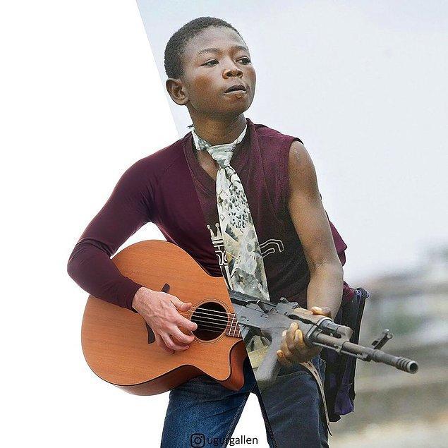 11. Liberya Monrovia kentinde çocuklar, asker ya da mühimmat taşımada kullanıldı.