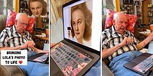 Kaybettiği Eşinin Fotoğrafı Teknoloji Sayesinde Hareketlenince Duygu Dolu Anlar Yaşayan Adam