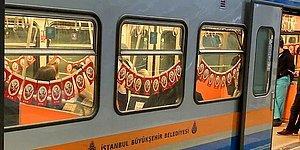 23 Nisan İçin Metroları Süsleyen İBB'nin Bayrak Maliyetiyle İlgili Yapılan Yalan Haber ve Tepkiler