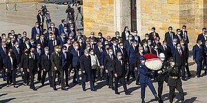 Devlet Erkanı 23 Nisan'da Atatürk'ün Huzurunda