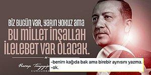 Tayyip Erdoğan'ın Paylaştığı Kendi Sözü Atatürk'ün Sözüne Oldukça Benzeyince Goygoycuların Diline Düştü
