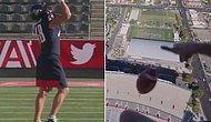 NFL Şampiyonu Tampa Bay'in Yıldızı Rob Gronkowski, Helikopterle Yaklaşık 200 Metreden Atılan Topu Yakaladı