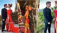OnlyFans Kraliçesi Bella Thorne Striptiz Kulübü Gibi Nişanında Giydiği Yırtmaçlı Elbise ile Sansasyon Yarattı