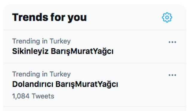10. Geçtiğimiz akşam Twitter Türkiye'da Barış Murat Yağcı ile alakalı enteresan bir hashtag gündem oldu. 😅