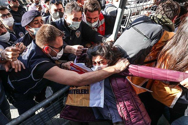 Polis müdahalesinden fotoğraflar 📸