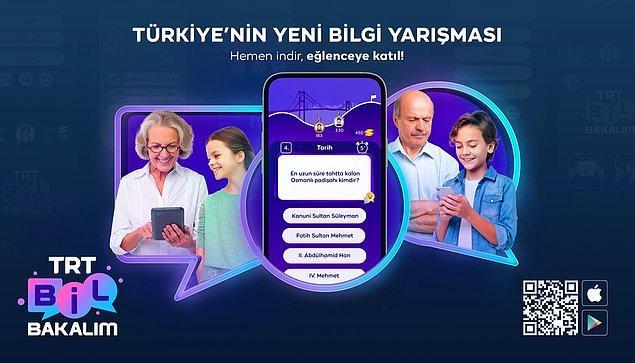 """Sekiz ana kategori olmak üzere, onlarca alt kategoride oynama imkânı veren yeni nesil bilgi yarışma uygulaması """"TRT Bil Bakalım"""" kullanıma sunuldu."""