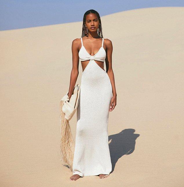 Geçtiğimiz aylarda ülkemizde de birçok ünlü ismin tercih ettiği Cult Gaia markası yeni koleksiyonu için bir elbise çıkardı.