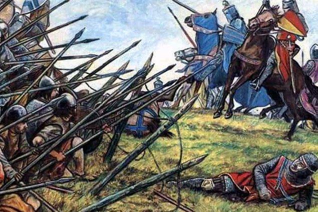 Falkrik savaşı ile İskoç birliklerinin bozguna uğraması