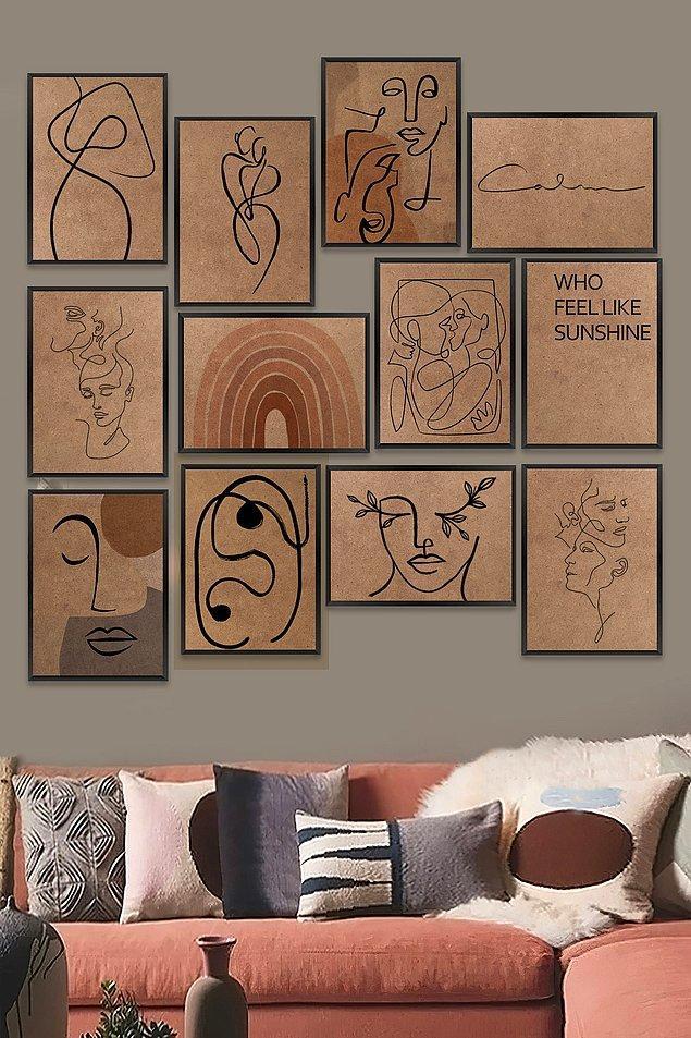 13. Evi ev yapan unsurlardan birisi de tablolar.