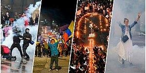 Hükumet Karşıtı Protestoların Devam Ettiği Kolombiya'daki Durumun Vehametini Gözler Önüne Seren Kareler