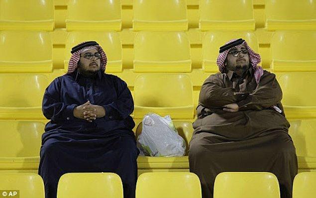 10. Katarlılar'ın %44'ü obezdir, bu yüzden de dünyanın en şişman ülkesidir.