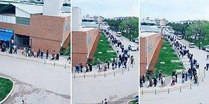 Pazar Yerleri Genelgesi Sonrasında Pazardan Alışveriş Yapmak İsteyen Vatandaşlar Yüzlerce Metre Kuyruk Oldu