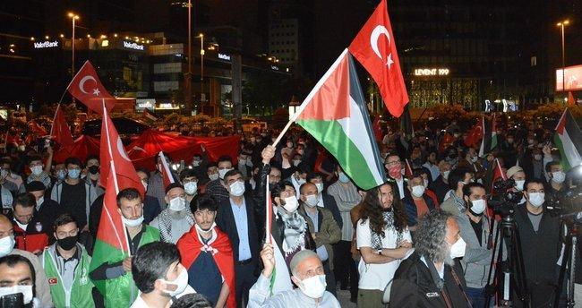 İsrail'in İstanbul Başkonsolosluğu Önündeki Protestolar Devam Ediyor