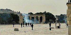 Mescid-i Aksa'da İsrail Şiddeti: Nöbet Tutan Filistinlilere Müdahale
