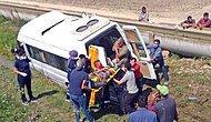 Tarım İşçilerini Taşıyan Minibüs Kaza Yaptı: İkisi Ağır Yedi Yaralı...
