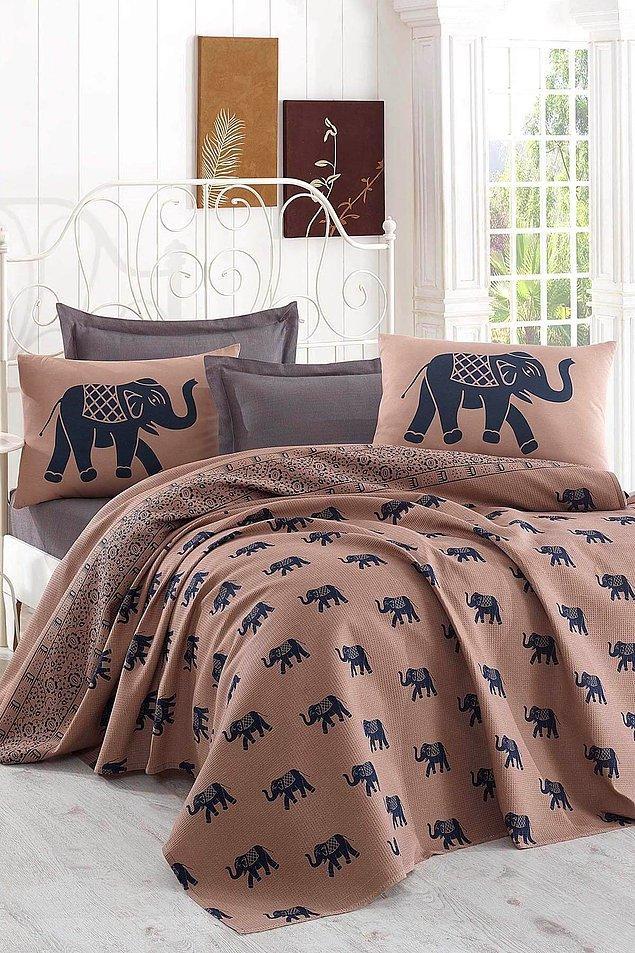 2. Fil desenli ev tekstil ürünleri kullanım alanına ayrı bir hava katıyor...