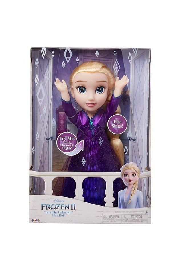 10. Müzikli ve ışıklı büyük boy (35cm) Elsa bebeğe ben bile bayılıyorum doğrusu...