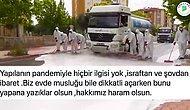 AKP'li Yeşilyurt Belediyesi'nin Bol Köpüklü Bayram Temizliği Tepki Topladı