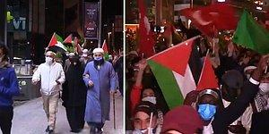 Dünya Basınında Yayınlanan 'Türkiye'deki İsrail Protestoları' Görüntüleri