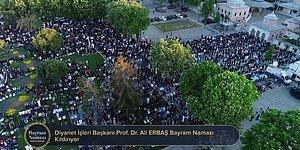 Binlerce Kişi Katıldı! Ayasofya'da 87 Yıl Sonra İlk Bayram Namazı