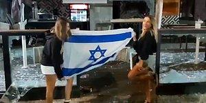İsrailli Kadınlar, Filistinlilerin Yağmalanan Dükkanları Önünde Dans Ettiler