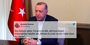 Erdoğan'ın Sıkıntıya Düşen Vatandaşlardan Helallik İstemesi Sosyal Medyada Tepki Çekti