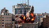 İsrail Gazze'de Medya Kuruluşlarının Olduğu Binayı Vurdu