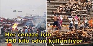 Hindistan'ın Ölüler Şehri Varanasi: Ganj Nehrinde Yapılan Ölü Yakma Töreni Nasıl Gerçekleşiyor?