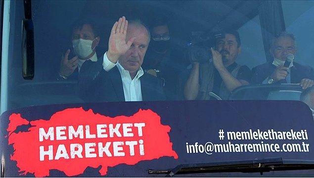 2018 Genel Seçimleri'nde Cumhuriyet Halk Partisi'nin Cumhurbaşkanı Adayı olan Muharrem İnce partisiyle ters düşmüş ve Memleket Hareketi ismini verdiği kampanyayla Anadolu'nun nabzını tutmuştu.