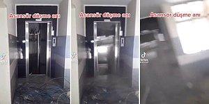 Daha Önce Hiç Asansör Düşme Anına Tanıklık Etmiş miydiniz?