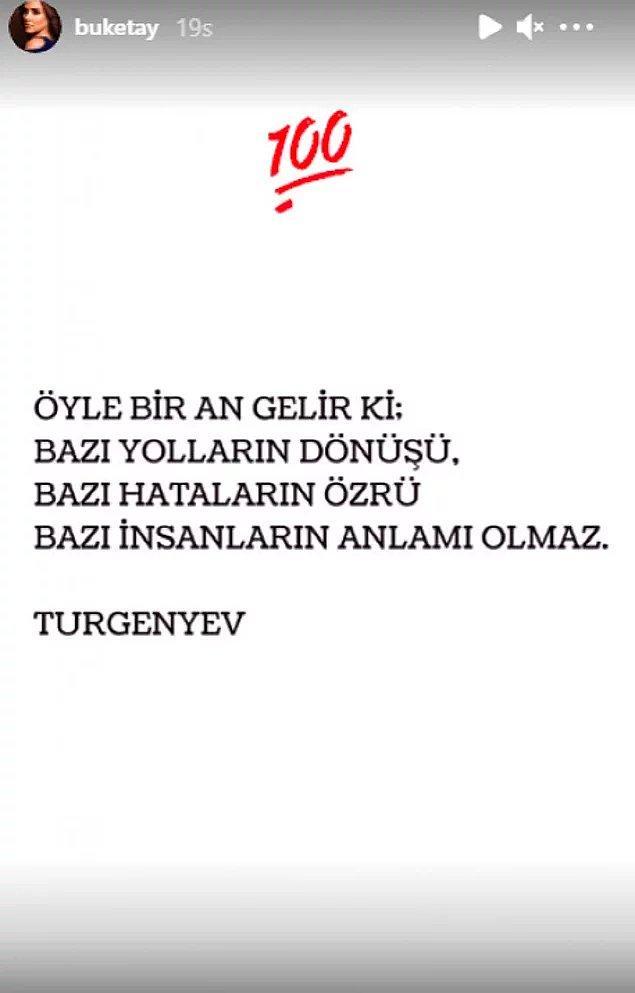 Ancak Emir Sarıgül'ün evlilik teklifini kariyer kaygısı nedeniyle reddeden Buket Aydın, ilişkilerine bir son vermişti.