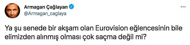 Bildiğiniz gibi Türkiye yıllardır bu yarışmaya katılmıyor. Buna rağmen sosyal medyada günün en çok konuşulan konuları arasına girdi. İnsanlar, sanki Türkiye de katılmış gibi heyecanla yarışmayı takip etti.