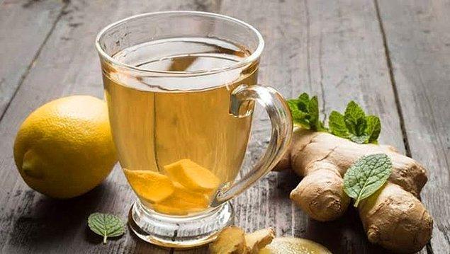 9. Yağlarınıza savaş açacağınız basit bir çay tarifi: Zencefil çayı