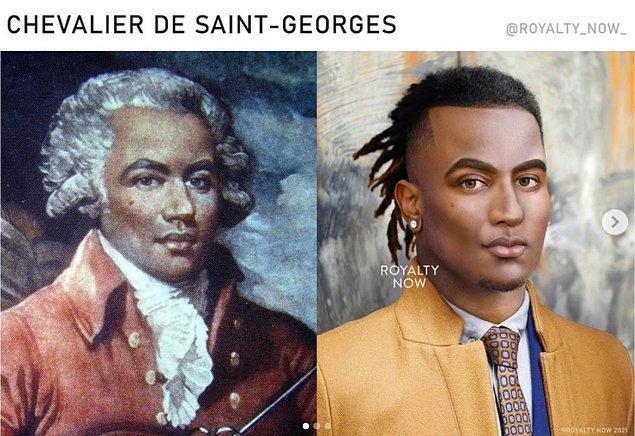 18. yüzyılın Fransız bestecisi Chevalier de Saint-Georges...
