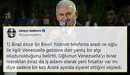 Binali Yıldırım'dan Oğlu Hakkında İkinci Açıklama: 'Yeni Fırsatlar İçin Venezuela'ya Gitti'