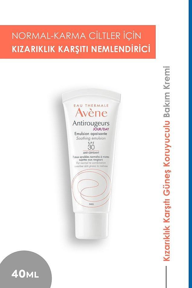 10. Avene'in güneş koruyuculu bu nemlendiricisi de kızarıklık karşıtı bir ürün.