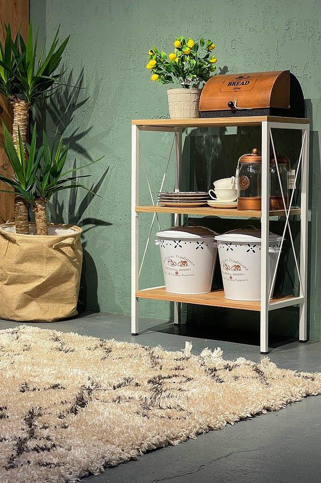 9. Mutfak tezgahında yer kaplayan eşyaları saklayacağınız muhteşem bir raf.