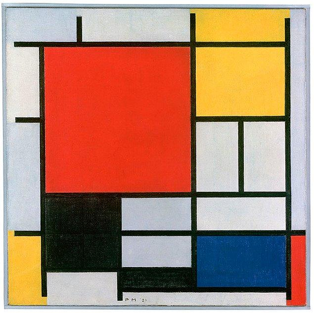 16. Baktığınız anda size iyi bir Tetris oyununu anımsatıyorsa bu Mondrian'dır.