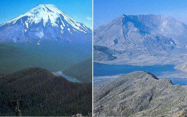 16. 18 Mayıs, 57 kişinin öldüğü St. Helens Dağı'nın patlamasının 41. yıldönümüydü. Patlamadan 22 yıl öncesi (1958) ve bugün...