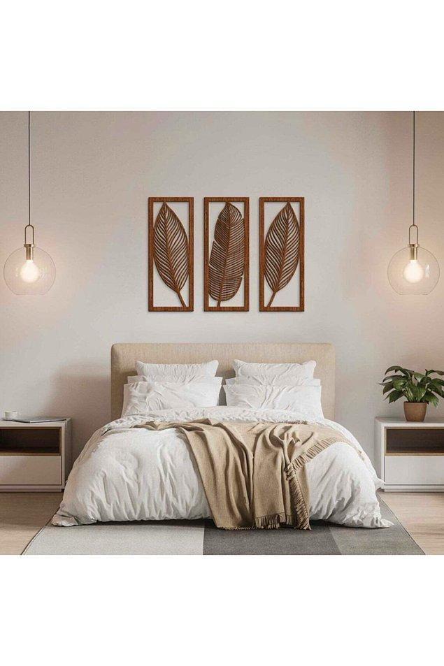 8. Otantik görünümlü yaprak duvar dekoru...