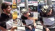 Adana'da Kendisini Direğe Bağlayıp Tokat Atana 1 TL, Kafasında Yumurta Kırana 5 TL Veren YouTuber