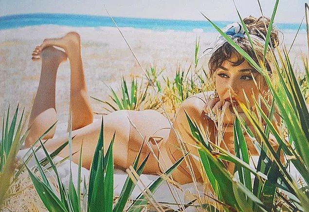 14. Hande Erçel'in Vogue için verdiği pozlara herkesin dibi düştü!