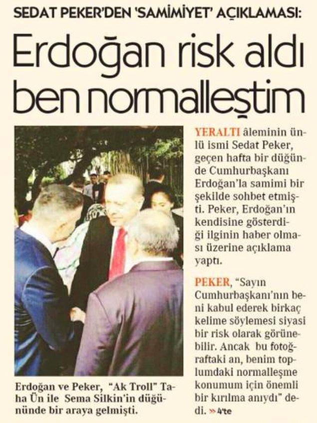 Erdoğan'la düğündeki fotoğrafı