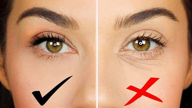 2. Göz altı kırışıklıklarından nasıl kurtuluruz?