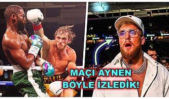 Ünlü Boksör Floyd Mayweather ve YouTuber Logan Paul Karşılaştıkları Boks Maçında Yenişemediler!