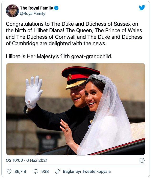 Kraliyet ailesi doğumu nasıl karşıladı?