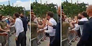 Fransa Cumhurbaşkanı  Emmanuel Macron'a Tokat Attı!