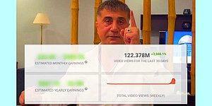 Sedat Peker'in YouTube Kanalının İzlenme Geliri Ne Kadar?