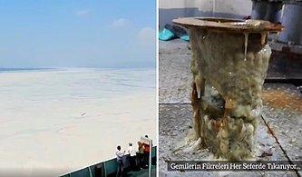 Eskihisar-Topçular Vapur Hattından Müsilaj Görüntüsü: Gemilerin Filtreleri Tıkanıyor